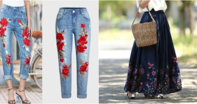 Wear Embroidery Bottoms to add a Style